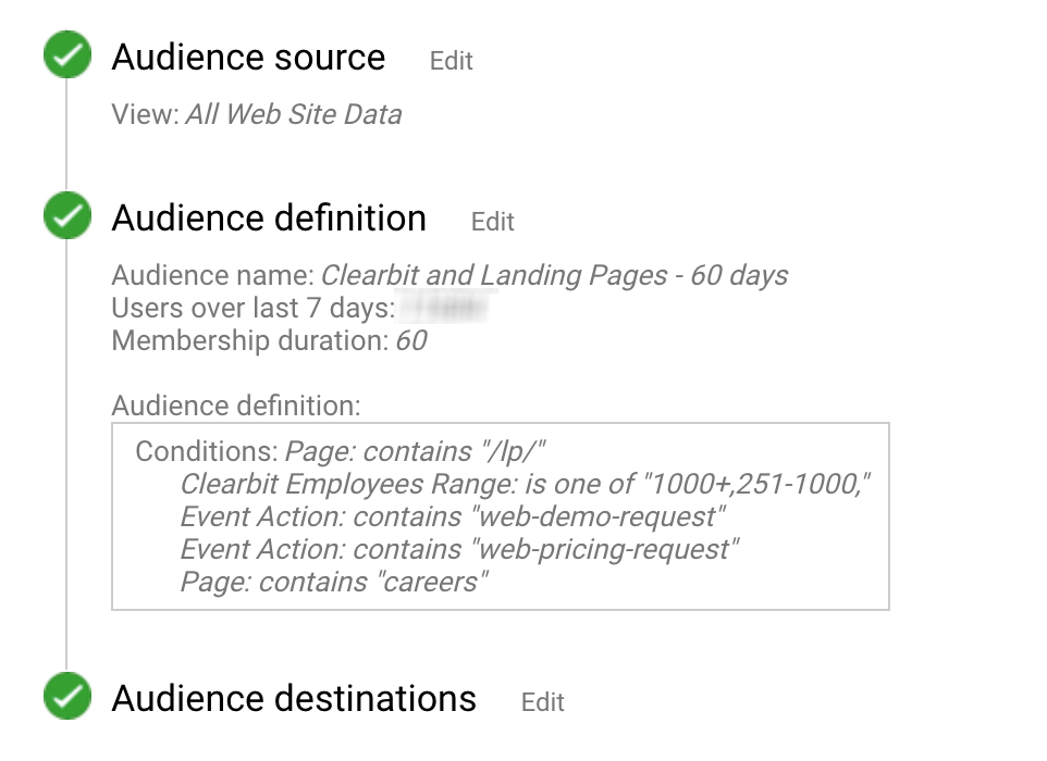 reveal audience in google adwords